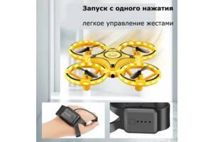 Квадрокоптер дрон Tracker Drone  KFR-001 управление жестами руки / ручной дрон / управляется перчаткой часами