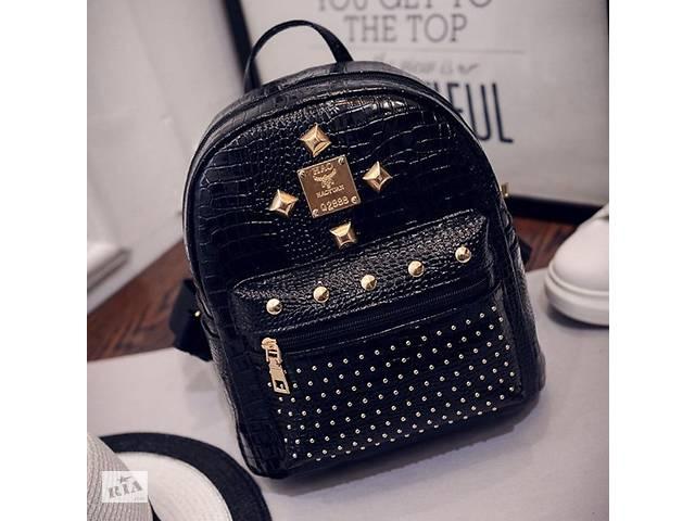 бу Лаковый женский рюкзак черный в Днепре (Днепропетровск)