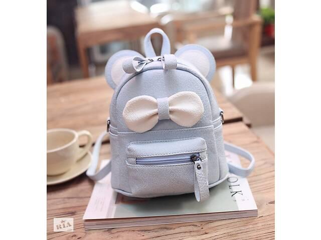продам Маленький детский рюкзак сумочка Микки Маус с ушками. Мини рюкзачок сумка для ребенка 2 в 1 Голубой бу в Днепре (Днепропетровск)