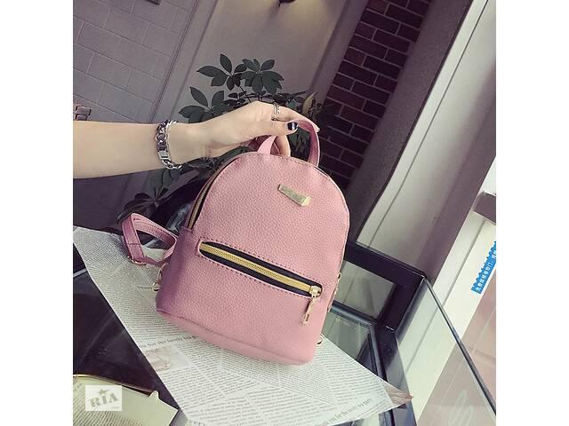 продам Маленький рюкзак женский серый ПУ кожа Розовый бу в Днепре (Днепропетровск)