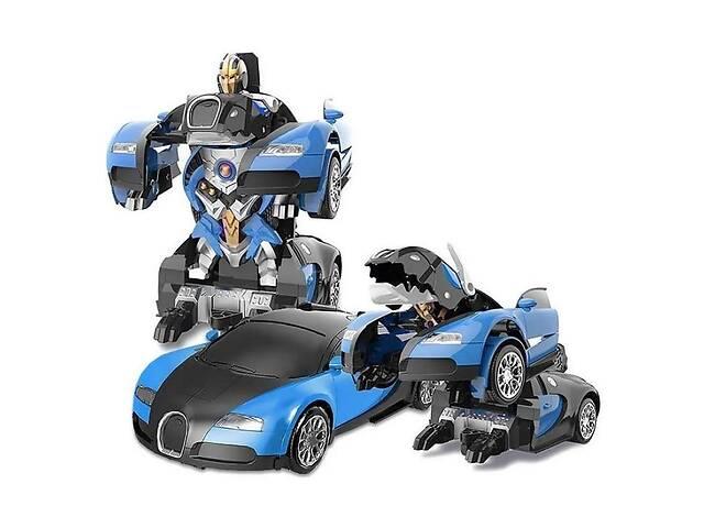 купить бу Машинка Трансформер Bugatti Robot Car Size 118 Синяя SKL11-279519 в Одессе