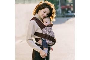 Май - слинг для новорожденных с зауженными концами Love & Carry Сафари, коричневый