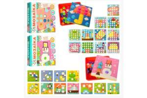 Мозаика 2929-81-1-2 детская 12 картинок 45 фишек 22 фигуры