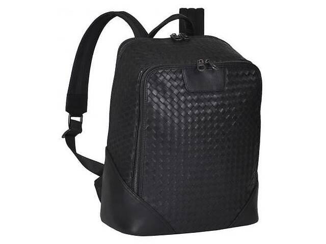 купить бу Мужской кожаный рюкзак Tiding Bag B3-165A,  черный на 10 л в Киеве