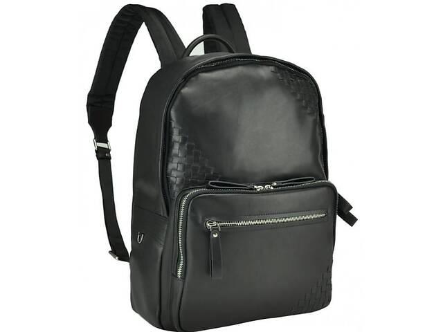 продам Мужской кожаный рюкзак Tiding Bag B3-1746A,  черный на 14 л бу в Киеве