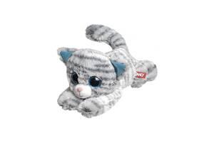 Мягкая плюшевая игрушка Кот с голубыми глазками Fancy 32 см, серый