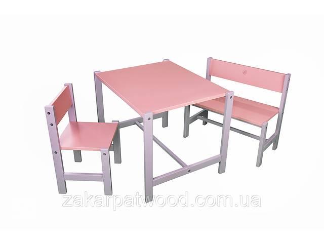 купить бу Набір дитячих меблів з дерева S1-R (колір рожевий) в Львове