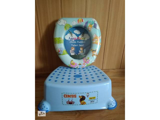 продам набор детский ступенька-подставка и накладка на унитаз бу в Киеве
