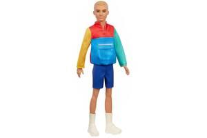 Лялька Кен Модник в світшоти в стилі печворк Barbie Mattel Оригінал (GRB88)