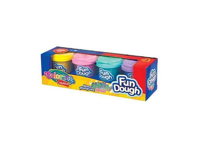 Набор для творчества Colorino Fun Dough, 4 пастели с блесточками (34326PTR)- объявление о продаже  в Харькове
