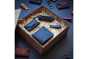 Набор кожаных аксессуаров Babak Medina, синий