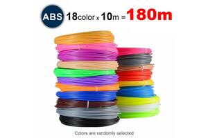 Набор пластика ABS для 3D ручек 180 метров (18 цветов по 10 метров)