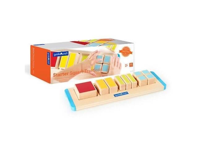 купить бу Пазл детский деревянный игрушка-сортер Guidecraft Manipulatives Дробные части квадрата в Киеве