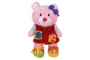 Плюшевая игрушка для новорожденных Baby Mix TE-9823-25B Мишка 29 см, розовый