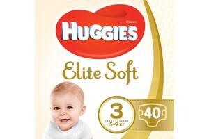 Подгузник Huggies Elite Soft 3 (5-9 кг ) Jumbo 40 шт (5029053547770)