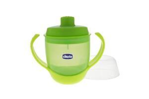 Поильник-непроливайка Chicco Meal Cup зеленая 12мес+ (06824.50)