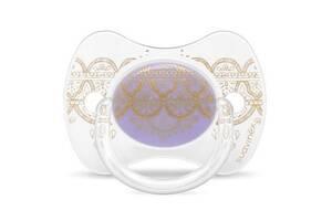 Пустышка Suavinex Couture, 0-4 мес.,симметричная фиолет (304203)