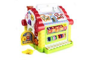 Развивающая музыкальная игрушка Теремок-сортер Limo Toy, со звуковыми эффектами. Подарок ребенку от 1 года