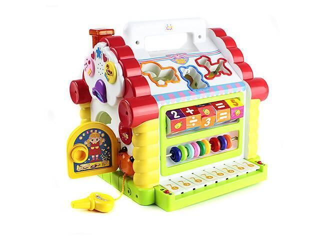Развивающая музыкальная игрушка Теремок-сортер Limo Toy, со звуковыми эффектами. Подарок ребенку от 1 года- объявление о продаже  в Киеве