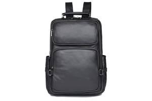 Рюкзак Vintage  кожаный Черный, Черный Vntg14955