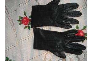 Супер перчатки черного цвета,100%кожа,р. 6-7