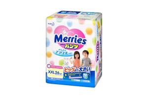 Трусики-подгузники для детей Merries XXL 15-28 кг, 26 шт