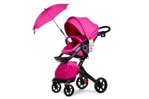 Универсальная коляска 2в1 DSLAND V8 Black-Pink Розовый  (DSV8BP)