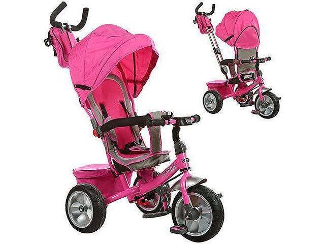 купить бу Велосипед детский трехколесный Profi M 3205A-2 с родительской ручкой Розовый (M 3205A-2_int) в Киеве