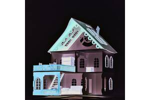 Великий дерев'яний ляльковий будиночок Веселя Оселя DaisySign Caramel
