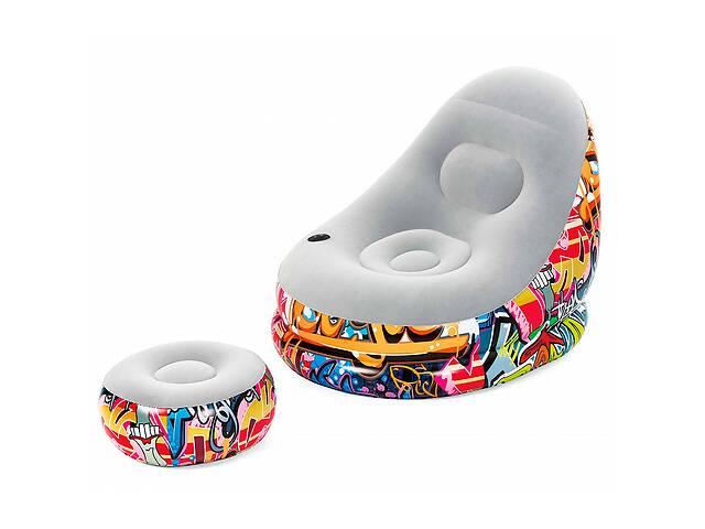 продам Велюровое кресло BESTWAY 75076 граффити с подстаканником бу  в Украине