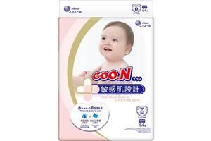 Японские подгузники для детей 6-11 кг на липучках Goo.N Plus Размер M 64 шт Унисекс (843335)