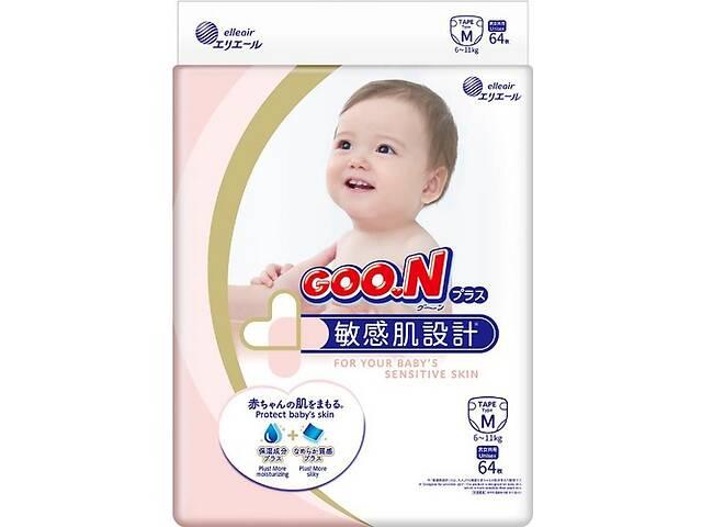 продам Японские подгузники для детей 6-11 кг на липучках Goo.N Plus Размер M 64 шт Унисекс (843335) бу в Киеве