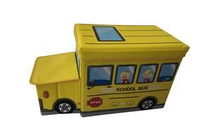 Ящик-пуф для игрушек Baby Comfort Школьный автобус