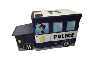 Ящик-пуф для игрушек Baby Comfort Полицейская машина