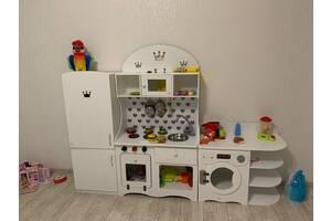 Игровая кухня, кухня для девочки, игровой набор, кухня, холодильник