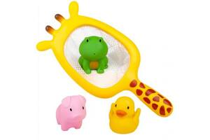 Игрушка для ванной BeBeLino Рыбалка с сачком-Жирафом (58116)