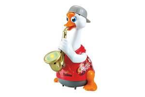 Игрушка музыкальная Hola Toys Гусь-саксофонист, красный (6111-red)