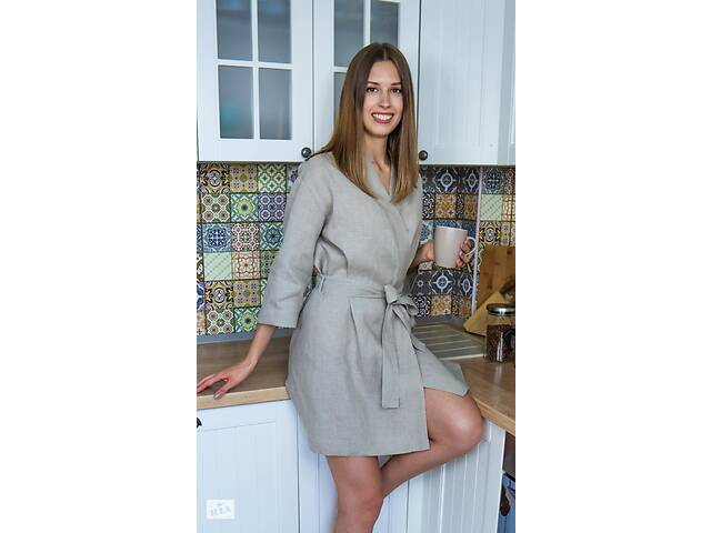 бу Жіночий халат з натурального нефарбованого льону в Чернігові