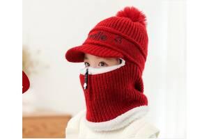 Зимний шлем Smile красный 4874