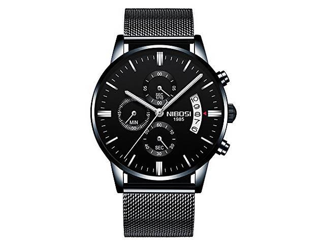 Чоловічий наручний годинник Nibosi Classic Black - Годинники в ... f15a0ad87f129