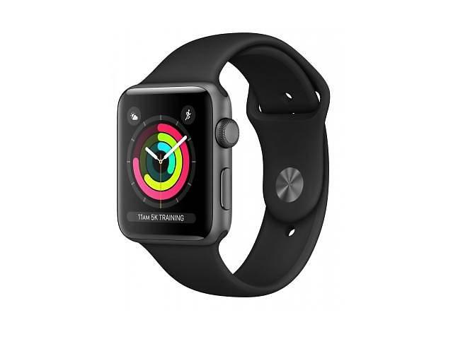 купить бу Смарт-часы Apple Watch Series 3 GPS, 38mm Space Grey Aluminium Case with Blac (MTF02FS/A) в Киеве
