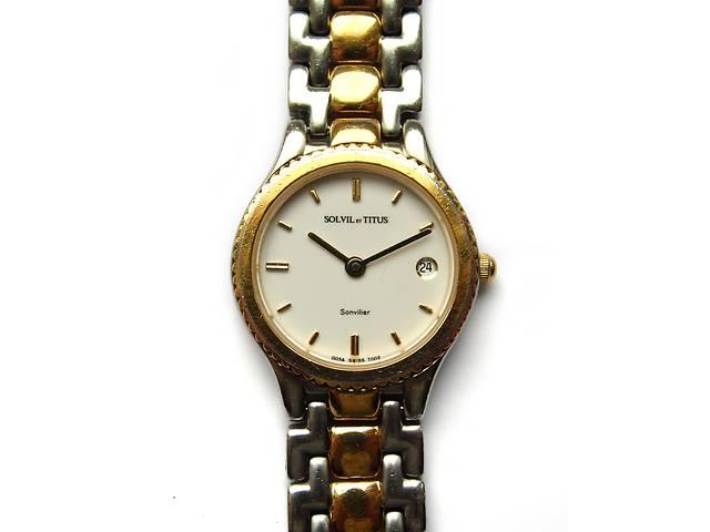 продам Solvil Et Titus швейцарские часы с датой механизм Swiss 7 Jewels бу в Запорожье