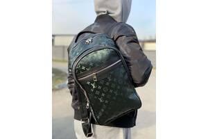 Backpack Louis Vuitton Michael Monogram Titanium Navi