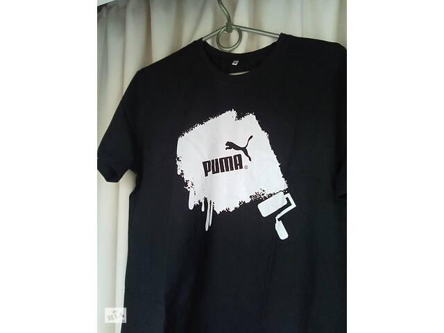 бу Базовая чёрная футболка мужская puma унисекс в Харькове