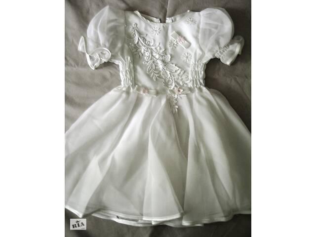 купить бу Белоснежное нарядное платье для девочки в Киеве