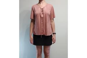 Платье atmosphere со шнуровкой, с коротким рукавом / блуза на шнуровке