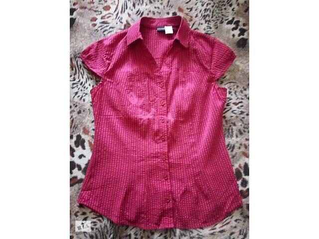 Блуза блузка рубашка приталенная стрейч 48р М-Л BodyFlirt Германия малиновая цвет фуксия на лето без рукавов- объявление о продаже  в Мариуполе