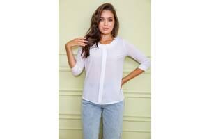 Блуза женская цвет белый размер 48 SKL87-297927