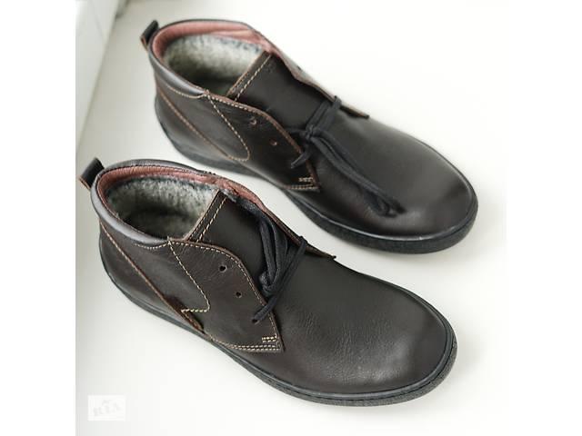 бу Ботинки кожаные коричневые Safari в Тернополе