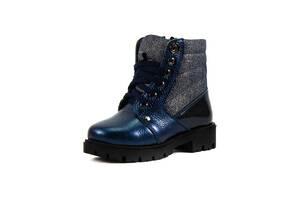 Ботинки зимние детские Alexandro AO19203 синяя кожа (27)